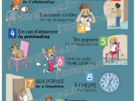 """POSTER """"Les 10 commandements de la salle d'attente"""" illustrés"""