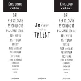 MARQUE-PAGE | ÊTRE LOGO/ORTHO C'EST ÊTRE...