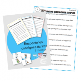 PDF — COMPREHENSION ECRITE | LES POTS DE TRI