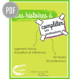 PDF — LES HISTOIRES A COMPLETER 2 | LES PROFESSIONS
