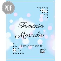 PDF — FEMININ-MASCULIN | LES POTS DE TRI