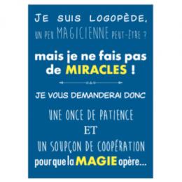 POSTER LOGO | JE NE FAIS PAS DE MIRACLES
